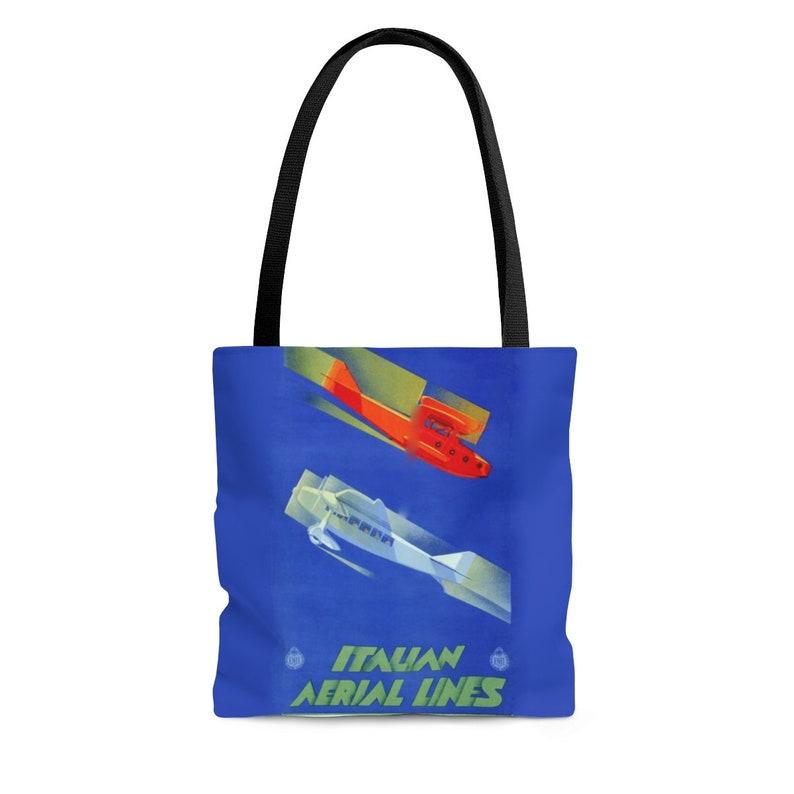 Tote bag /Italian Airline /Poster /Original Art /Tote /Vintage image 0