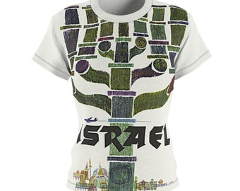 Mother's Day / Great Gift / Women's / Tee T-Shirt Shirt / Israel / Menorah / Valentine's gift / Travel / Vintage / Art / New / Sexy