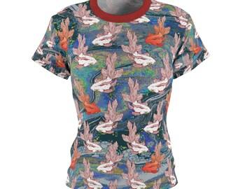 Perfect Gift / Koi / Women's / Tee T-Shirt Shirt / Goldfish / Fish / Valentine's gift / Pretty / Colors / Art / New / Sexy