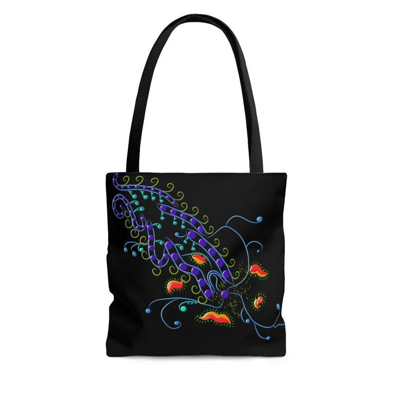 Tote bag /Vines /Orange /Original Art /Tote /Gift /Bag image 0
