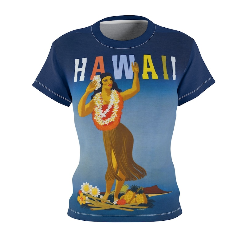 Tee Shirt /Hawaii /Women /Travel /T-shirt /Tee /Shirt /Vintage image 0