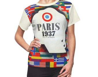Perfect Gift / Paris / Women's / Tee T-Shirt Shirt / Exposition / 1937 / Valentine's gift / Pretty / Vintage / Art / New / Sexy