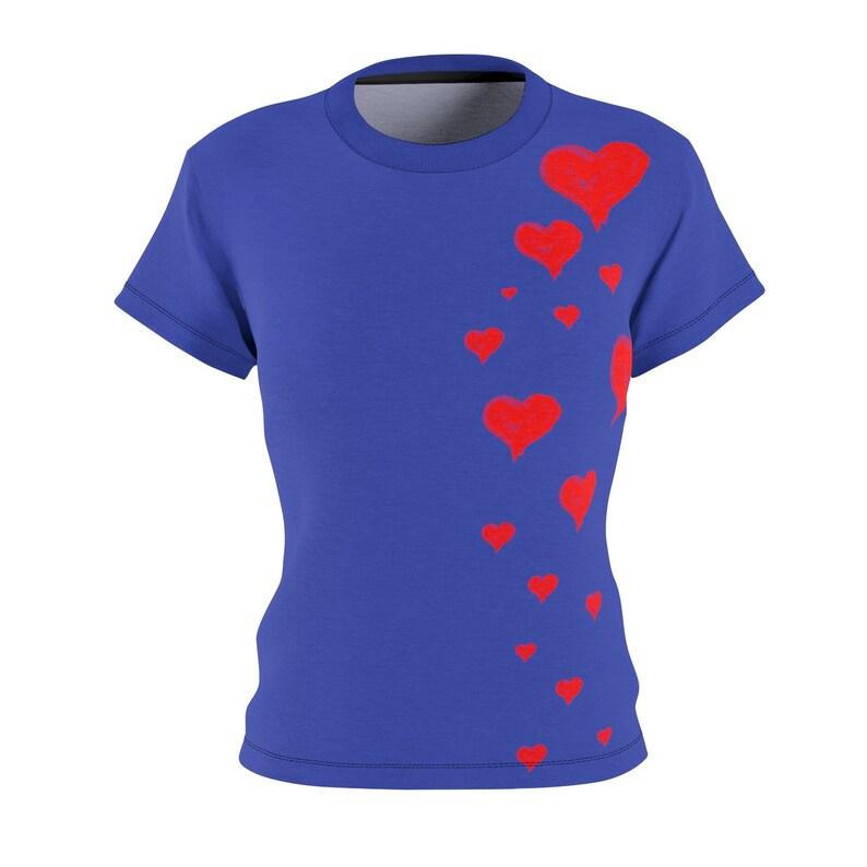 Gift for Girlfriend / Hearts / Women's / Tee T-Shirt Shirt image 0