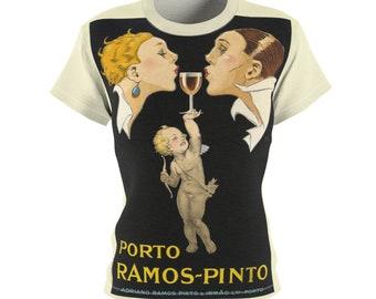 Tee Shirt /Port /Women /Portugal /T-shirt /Tee /Shirt /Vintage /Art /Wine /Birthday Gift /Clothing /Gift for Her