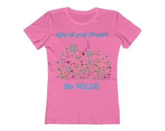For Mom / Flowers / Women's / Tee T-Shirt Shirt / Wild / wildflowers / Valentine's gift / Pretty / Colors / Art / New / Sexy