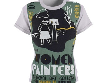 Great Gift / Artists / Women's / Tee T-Shirt Shirt / WPA / Wife / Valentine's gift / Poster / Vintage / Art / Birthday / Sexy