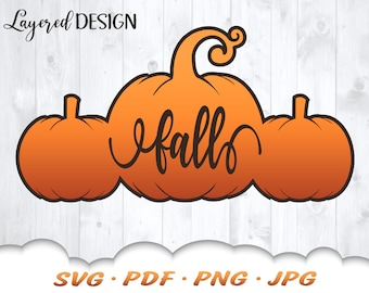 Fall Pumpkin SVG - Pumpkin Svg Files For Cricut - Fall Svg - Pumpkin Clipart - Fall Décor - Fall Iron On Transfer - Fall Shirt Svg