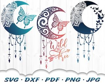 Mandala Butterfly Dreamcatcher SVG Bundle - Dreamcatcher Svg Files For Cricut - Butterfly Svg Files - Butterfly Mandala Svg Dxf Cut Files