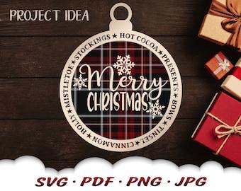 Christmas Ornament Svg - Merry Christmas Svg Files For Cricut - Snowflake Svg - Christmas Décor - Tree Ornament Svg - Snowflake Clipart