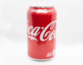 Cola Color and Scent 5 BUCK FLAT SHIPPING 12 Oz Coca-Cola Coke Can Candle Upcycled Soda Pop Can Candle