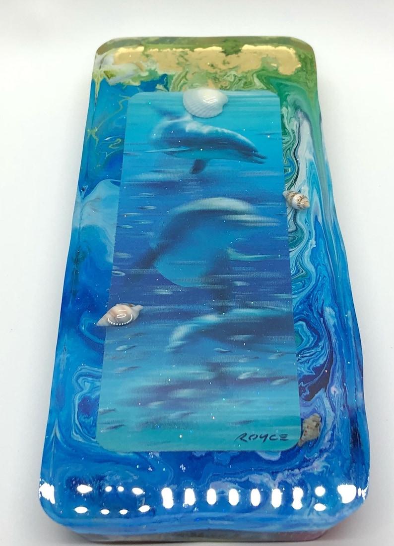 Texas Resin Dolphin Ocean Sandbar Decor 8x3.5x1 inch