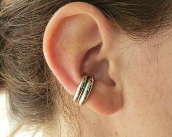 Chunky Ear Cuff,Thick Ear Cuff,No Piercing Sliver Ear Cuff,Minimalist Earrings Cuff