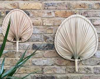Handmade Palm Leaf Wall Hanging, Wall Decor, Wall Ornament, Wall Art, Made in Vietnam, Boho Decor, Gifts for Home, Christmas Present