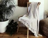 Recycled Cotton Throw, Chevron Blanket Throw, Outdoors Blanket, Garden Throw, Picnic Blanket, Moroccan Throw, Birthday Present, SAND