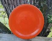 Original Unmarked Fiesta Dinnerware 13 Chop Plate Round Platter Red Orange made by The Homer Laughlin China Company HLC