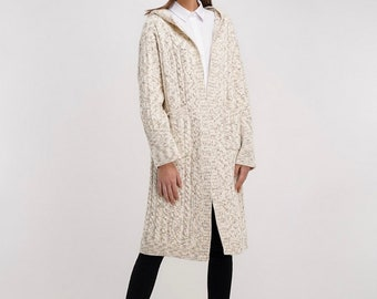 100% cashmere knitted coat