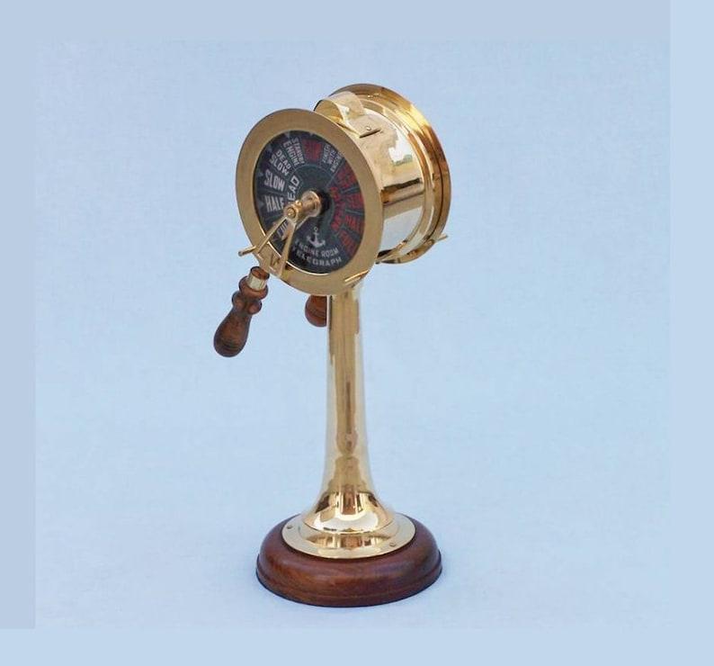 Decorative Brass Nautical Telegraph Solid Brass Titanic Engine Room Telegraph 18