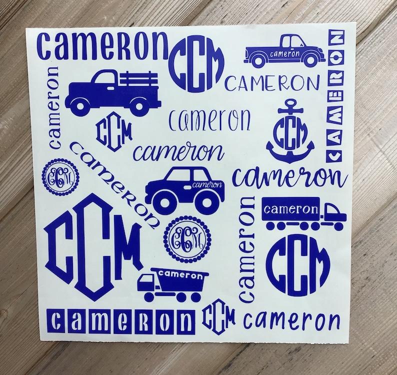 Monogram Decal Personalized Vinyl Decal Monogram Vinyl Decal Car Decal Decal For Yeti Decal For Tumbler Vinyl Stickers