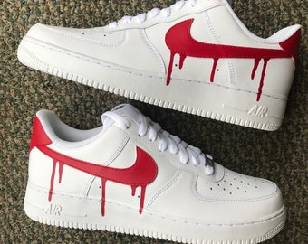 official photos 8ab01 91810 Custom Nike Air force 1 drip   Nike air force one custom