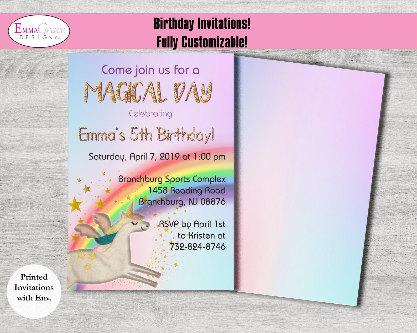 printable unicorn invitations
