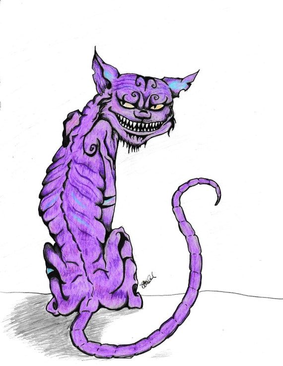 Cheshire Cat Cheshire Cat Picture Creepy Alice In Etsy