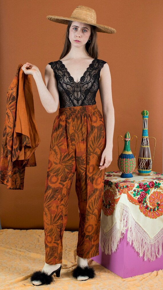 burnt tones pant set