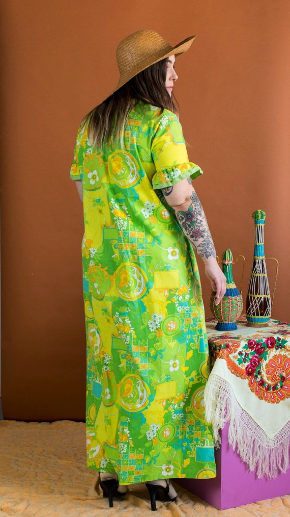 psychedelic print duster dress - image 2