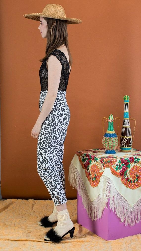snow leopard print trouser