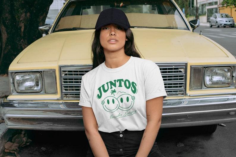 Juntos Shirt Stronger Together Latinx Owned Shop Eco image 1