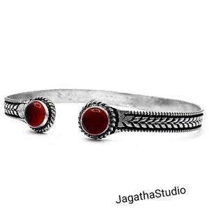 Silver Bangle Bracelet Gemstones Swirls flowers Adjustable Ethnic Jewelry Gift Birthstone Friendship Cuff Hippie Chic