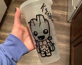 Groot Starbucks Cup/Personalized Groot Cup/Marvel Starbucks Cup/Plant A Tree/Eco Friendly/I Am Groot/Groot Cup/Groot Christmas Gift