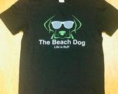 Classic Black Beach Dog logo shirt