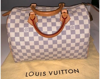 874cdd1a05d5 Louis Vuitton Speedy 30 Damier Azur Canvas