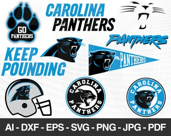 23719d8e183 Carolina Panthers SVG, Carolina Panthers files, panthers logo, football,  silhouette cameo, cricut, digital clipart, layers, png dxf ai