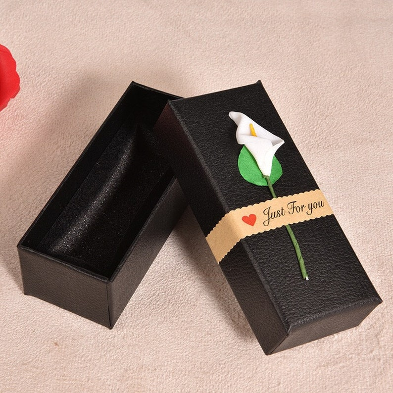 Lipstick Tube Boxes Lip Gloss Tube Boxes No Tubes Packaging Boxes 10.5*4.5*3.5cm DIY Gift Boxes Packaging Boxes Imitation Leather