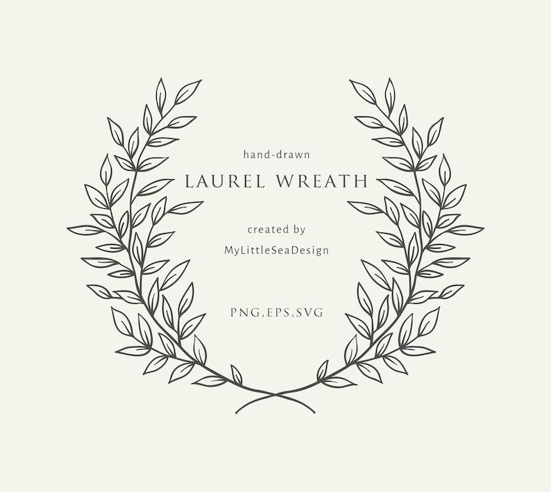 Laurel Wreath Svg  Floral Wreath Svg Vector Files  Flower image 0