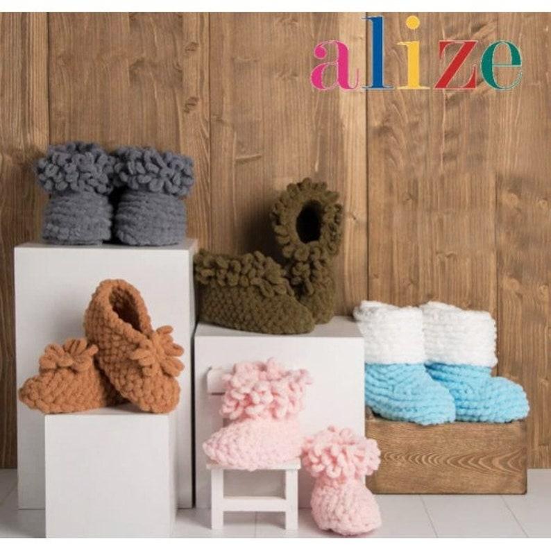 Finger Yarn Puffy Yarn Baby Yarn Easy Knitting Yarn,No Hook and Neddle Velvet Yarn 15 Skeins,Alize Puffy,Free FAST Shipping,Blanket