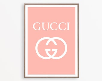 3e0c525986 Gucci Wall Art Fashion Art Gucci Print Gucci Logo Fashion Print Bedroom Art  Girl Pink Room Decor Gucci Poster Modern Wall Decor Gucci Art