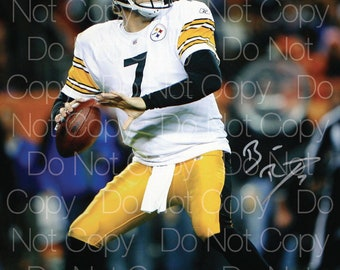 9f216a53035 Ben Roethlisberger Pittsburgh Steelers 8X10 inch photo picture poster  autograph reprint