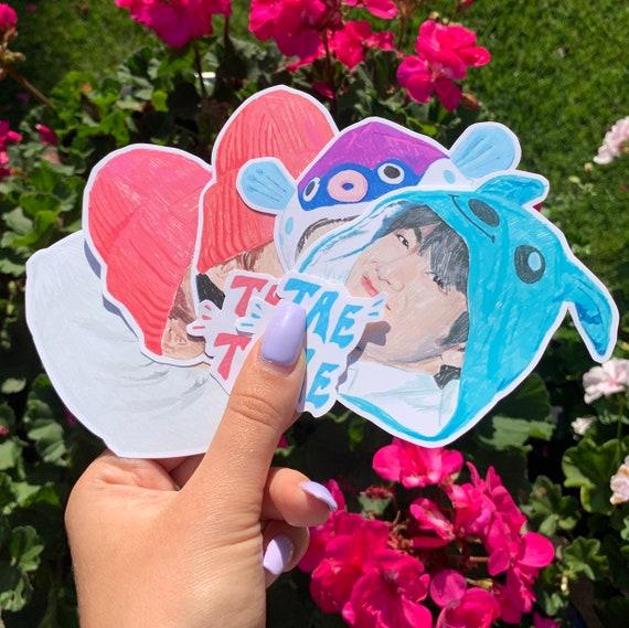 Cute Meme Bts Kim Taehyung Fan Art Illustration 7 Pack Of Etsy