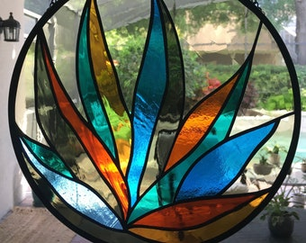 Stained Glass Sun Catcher eye see you series LotusAgave