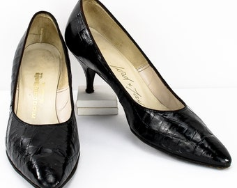 10df297bcca46 Alligator heels | Etsy