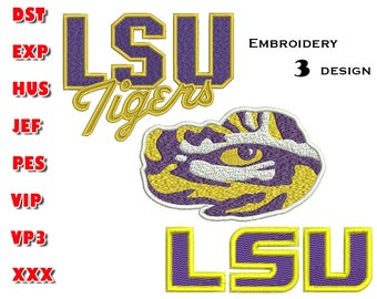 Lsu embroidery design | Etsy