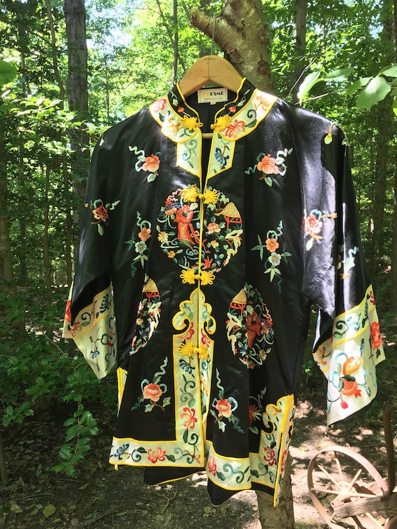 Vintage Chinese Silk Embroidered Jacket