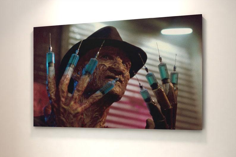 Freddy Krueger Framed Canvas Wall Art Picture Print