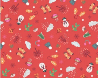 Christmas Wishes Fabric Music Notes on Tan Premium Cotton Out Of Print