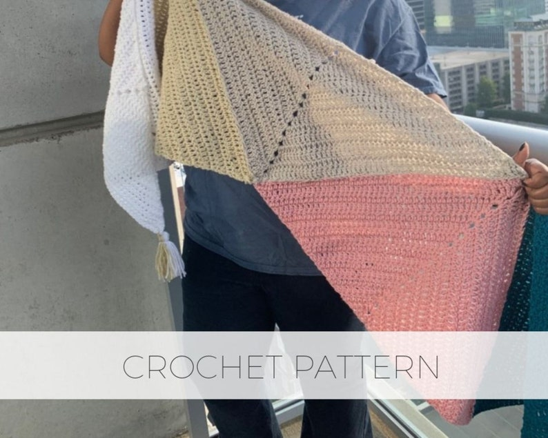 Pentapoint Wrap Digital PDF Crochet Pattern / Shawl scarf image 1