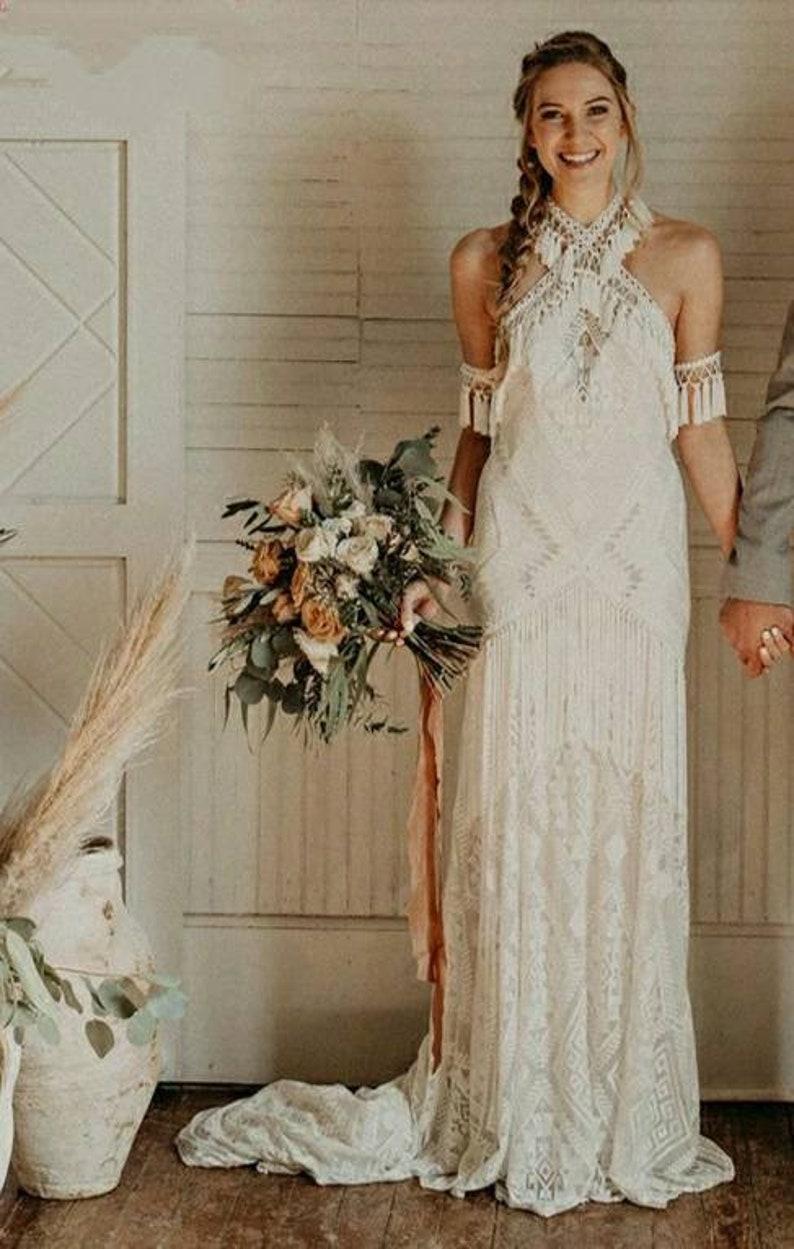 trouwjurken voor de boho-bruid