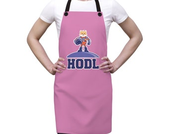 SHIBA Inu  HODL Crypto Unisex Polyster Lightweight Apron- Crypto Gift for her