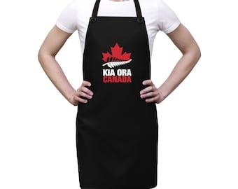 Kio-Ora Kiwi New Zealand All Blacks Cooking Chef Bartender Apron- Gift For Him & Her, Kiwis living in canada